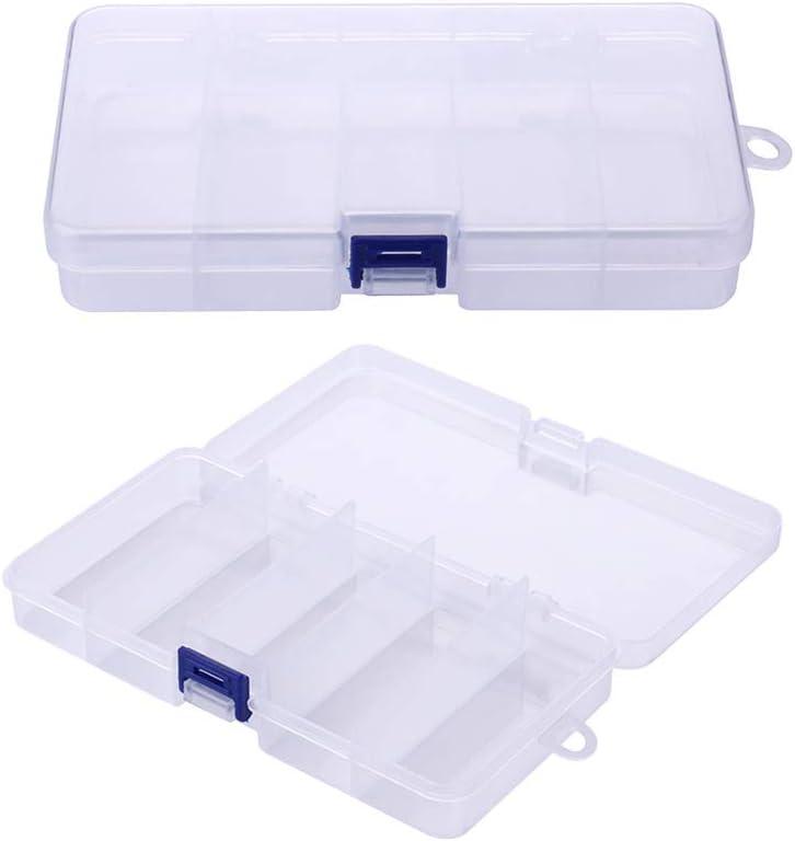 VOSAREA Caja de Aparejos 5 Rejillas Cajas de señuelos de Pesca Ganchos de Cebo de plástico Accesorios de Aparejos de Pesca Caja de Almacenamiento Contenedor de la Caja: Amazon.es: Hogar