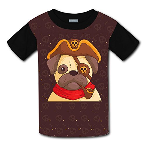 Mmm fight Cute Pug Light Weight Short Sleeve 2017 The Latest Version For kidsfree Postage