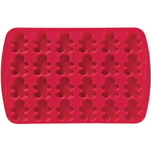 Wilton 24 Cavity Silicone Gingerbread Boy Mold Pan