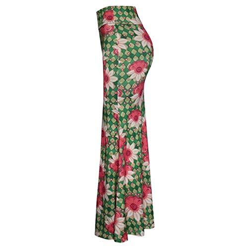 Vintage Boho Mermaid Lace-Up Floral Print Trumpet Long Skirt Bandage Pleated Ruffles Elegant Women Party