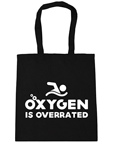x38cm Beach litres overrated HippoWarehouse Tote Gym 10 Bag Oxygen 42cm Shopping Black is RfqfPczn6