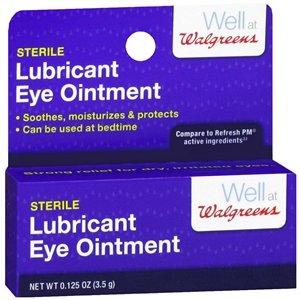 Walgreens Sterile Lubricant Eye Ointment, .12 oz