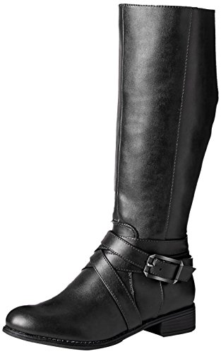 LifeStride Women's Subtle Equestrian Boot, Black