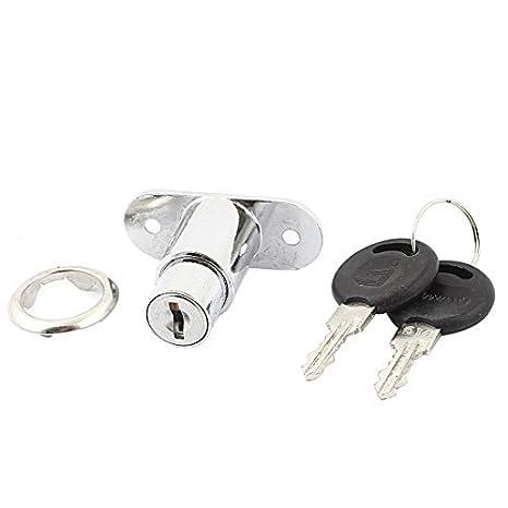 DealMux Armarios cajones metálicas de seguridad cerradura de la leva taquillas w 2 Llaves