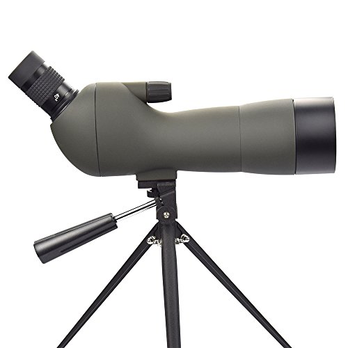 Feyachi Spotting Scope with Tripod,20-60x60AE Zoom Monocular Telescope with 45-Degree Angled Eyepiece for Bird Watching