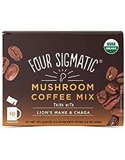 FOUR SIGMATIC Mushroom Coffee Mix Lion's Mane & Chaga (10 packets), 2.5 g
