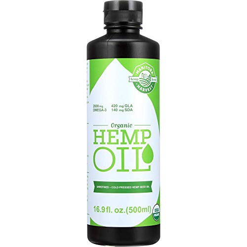 Manitoba Harvest Organic Hemp Oil, Cold Pressed, 10g of Omegas 3&6 Per Serving, Non-GMO, 16.9 Fl Oz (Hemp Manitoba Harvest Seed Oil)