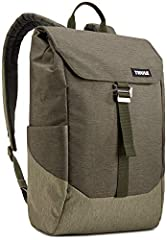 A modern backpack with secure flap closure built for campus or navigating through town.