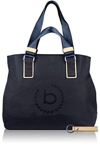 bugatti Ladies Lido - bolso de tipo «shopper» con compartimento RFID de señora, azul marino + llavero