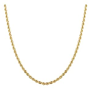 Best Epic Trends 41p4gsBoOML._SS300_ Sterling Silver 2mm diamond cut rope chain necklace- Made In Italy