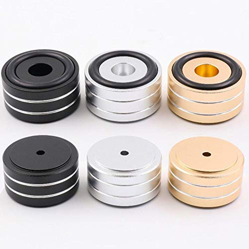 FidgetGear 4Pcs 40x20mm Aluminum Speaker Turntable Isolation Stand Feet DAC CD AMP Mat Pad