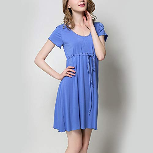 Blue Color JUNFELICIA al pigiameria seno Size da scollo Plus Camicia donna Abito Size Blue M Allattamento notte V shirt Navy allattamento T a Allentato gOqrgxU