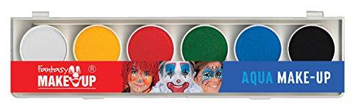 Fantasy Makeup Aqua Paint Box With A Brush, 6 -