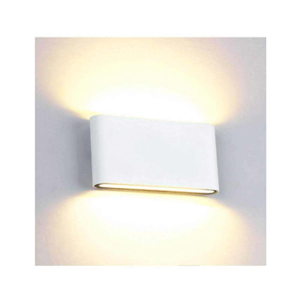 Louvra Up Down Wall Light Waterproof IP65 LED Wall Lights White Interior Lighting Bathroom Wall Lights Lamp Outdoor Wall Lamp for Bedroom Living Room Porch Bath Balcony,6W Cool White [Energy Class A++]