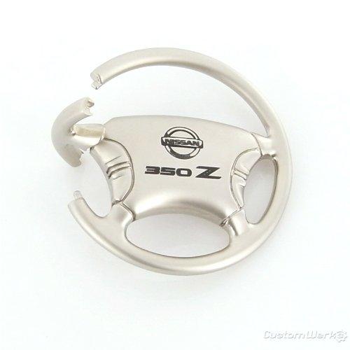 Nissan 350Z Logo Steering Wheel Key Chain Automotive Gold