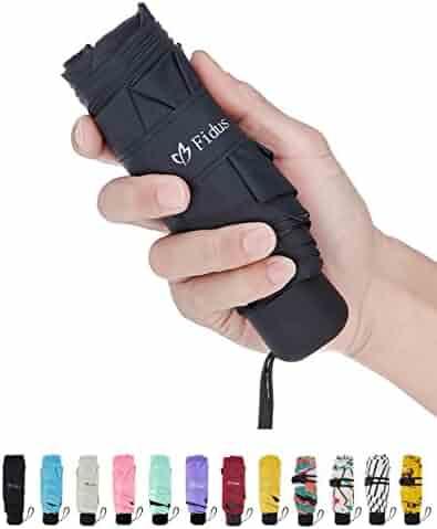 Fidus Mini CompactSun&Rain TravelUmbrella - Lightweight PortableOutdoorGolfUmbrellawith95%UVProtection