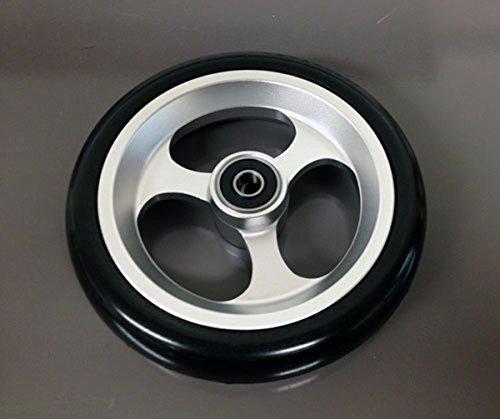 Caster Wheel, Soft Roll - 4 x 1 in., 1 each