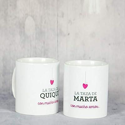 Calledelregalo Pack de Tazas San Valentin Personalizadas con el ...
