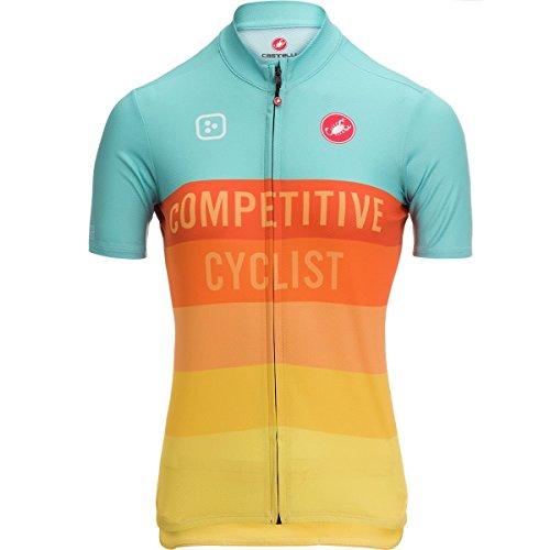 素晴らしい良い多くの修正回転Castelli Competitive Cyclist Race Jersey – Women 's Teal/ゴールド、XXL