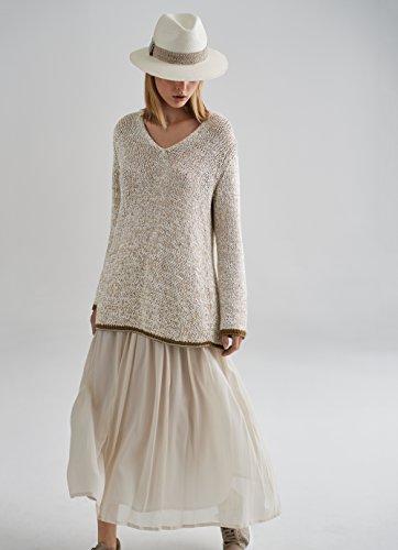 Fabiana 40 Femme Pull Ivoire Filippi Blanc xxwOzBgqU