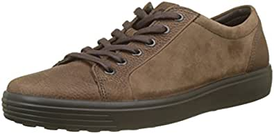 ECCO Men's Soft 7 Sneaker, Cocoa Brown/Cocoa Brown Suede, 44 M EU (10-10.5 US)
