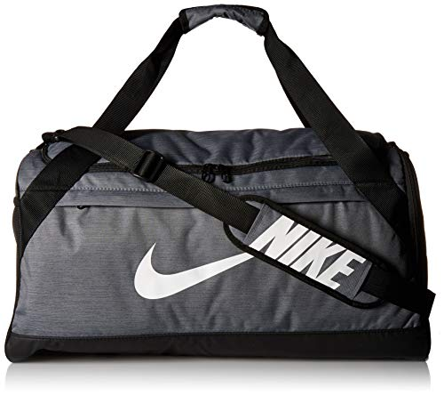 Soccer Gym Bag - Nike Brasilia Duffel Bag, Flint Grey/Black/White, Medium