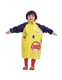 Vine Kids Raincoats Children Rain Poncho Reusable Rainsuit Boys Girls Rainwear