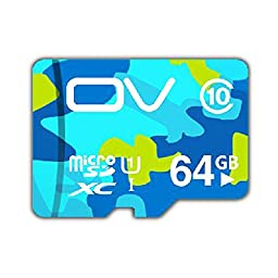 CoolEStore OV Class 10 Micro SD SDXC TF HIGH PERFORMANCE Flash Memory Card UHS-1 Up To 80MB/s Read Speed Life time warranty 100% TESTED generation 3 64GB Camouflage