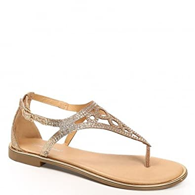 Ideal Shoes , Sandali donna, nero (nero), Fr 41