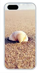 iPhone 5S Cases & Covers -Sea Shell On The Beach Custom PC Hard Case Cover for iPhone 5/5S ¨C White