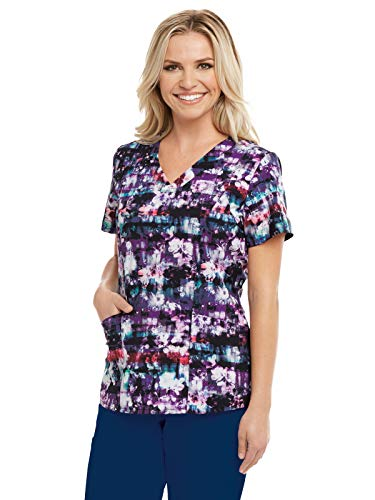 Barco One 5107 Print V-Neck Top Flower Fever ()
