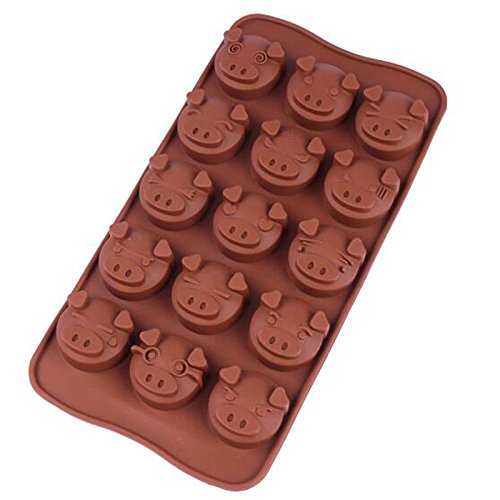 Bekith Silicone Gel Non-stick Chocolate, Jelly and Candy Mold, Cake Baking Mold (Set of 6) by Bekith (Image #5)
