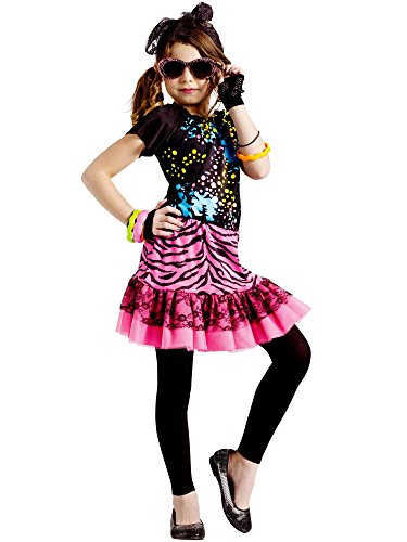 Toddler 80's Pop Party Costume (Large-4T-6T)