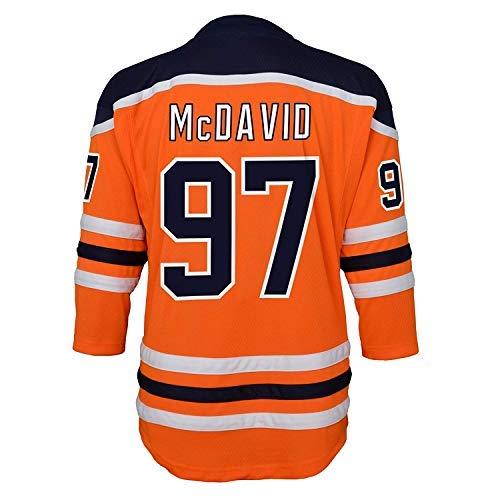 Connor McDavid Edmonton Oilers Orange Kids 4-7 Home Replica Jersey (4-7) ()