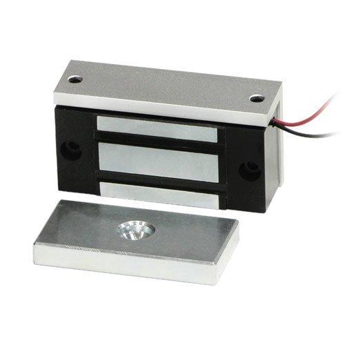 Maglock Single - Seco-Larm E-941SA-80Q Single Door Mini Maglock (2 Pack), 80~110-lb (36~51kg) Holding Force, No Residual Magnetism, Detachable Mounting Bracket, MOV Surge Protection, 12~24VDC
