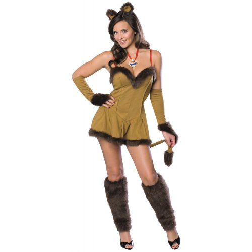 Secret Wishes Women's Wizard of Oz Cowardly Lioness Costume, Tan/Brown, Medium]()