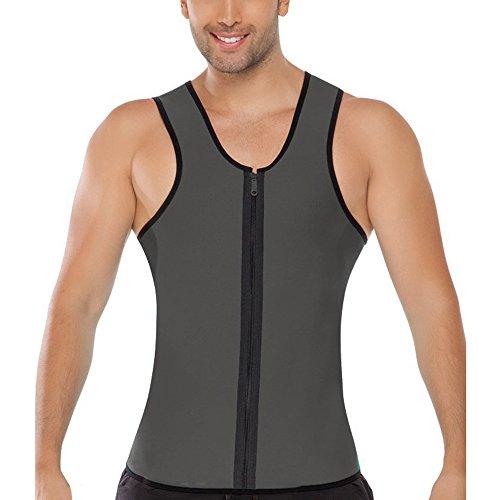 Fit Top Men's Tank Down Grey Running Vests Zipper Rera Slim Sleeveless Casual HtwgX