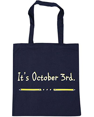 HippoWarehouse se trata de octubre de 3ª Tote Compras Bolsa de playa 42cm x38cm, 10litros azul marino