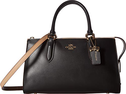COACH Women's Color Block Selena Bond Bag Gold/Black Multi One Size -