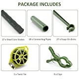 GROWNEER 3-Pack Plant Cages Assembled Tomato Garden Cages Stakes Vegetable Trellis, with 9Pcs Clips and 328Ft Twist Tie, for Vertical Climbing Plants