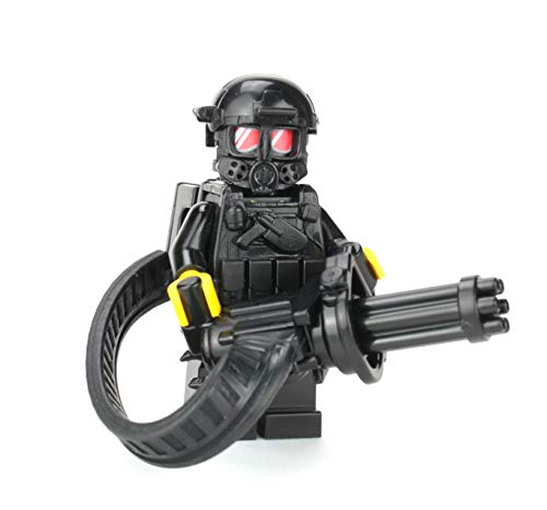 Battle Brick Custom Heavy Gunner Minigun Soldier (SKU69) Minifigure