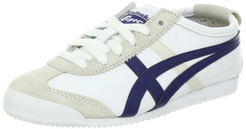 Onitsuka Tiger Mexico 66 PS Lace-Up Sneaker (Toddler/Little Kid/Big Kid),White/Navy,1 M US Little (Tiger Athletic Sneakers)