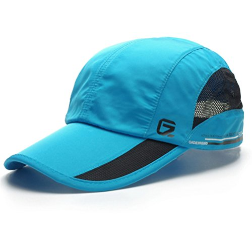 GADIEMENSS Quick Dry Sports Hat Lightweight Breathable Soft Outdoor Running Cap (Classic up, Sky Blue) (Classic Lightweight Cap)