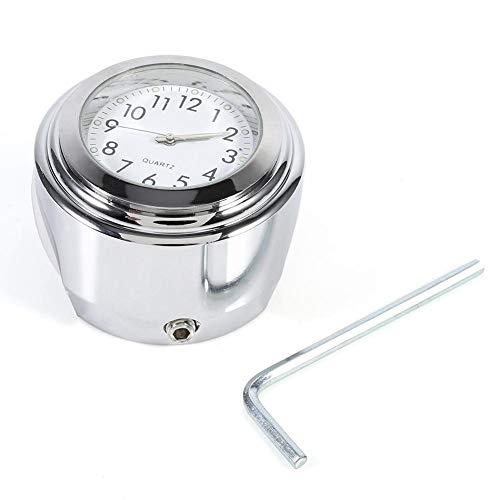 """EVGATSAUTO motorfiets stuur horloge, 7/8 """"1"""" aluminium motorfiets stuurhouder horloge nauwkeurige tijd houden wijzerplaat klok"""