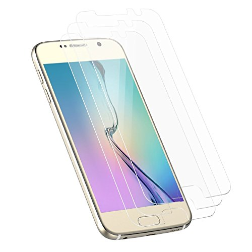 Galaxy S6 Screen Protector, JETech 3-Pack Screen Protector film HD Clear Retail Packaging for Samsung Galaxy S6 - 0854