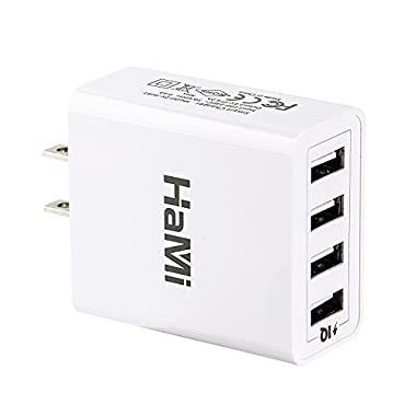 Wall Charger, HaMi 21W 4.2A 4-port USB Charger Power Adapter Travel Charger Charging Station 2.4A Each Port for Apple Iphone 6/6s/plus/5/5s, Ipad, Samsung, Nexus, HTC, Tablet and More (White)