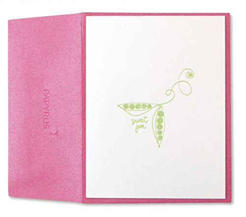 Papyrus Letter Press Sweet Pea Card -