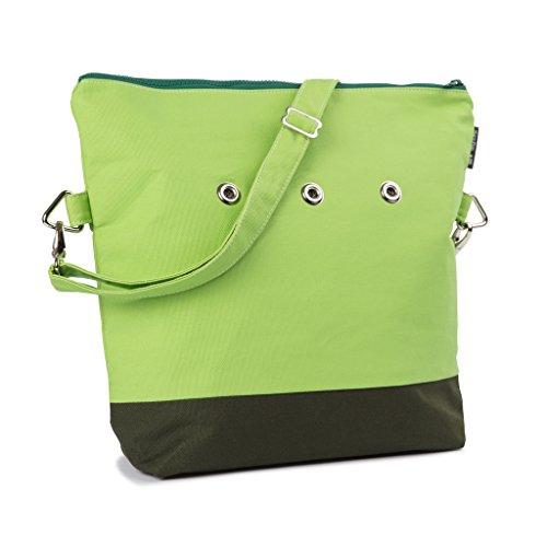 Yarn Pop Totable Knitting Bag - GREEN+GREEN by Yarn Pop
