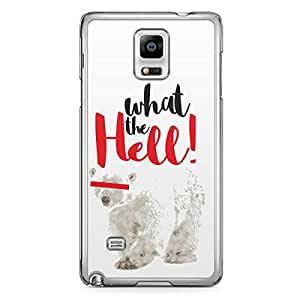 Polar Bear Samsung Note 4 Transparent Edge Case - What the Hell Collection