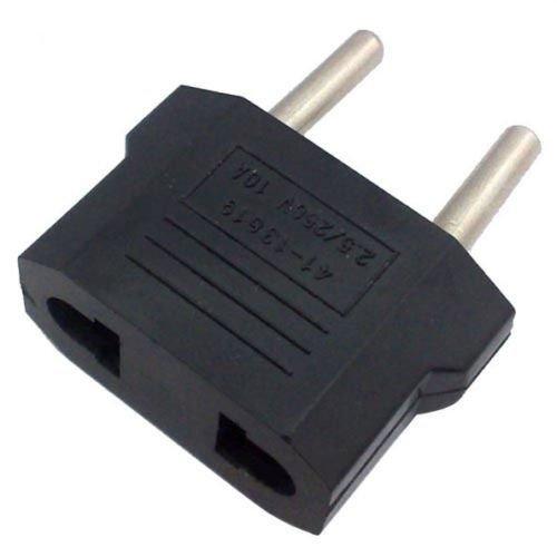 FidgetFidget 5Pcs US USA to EU Euro Europe Power Jack Wall Plug Converter Travel Adapters &.